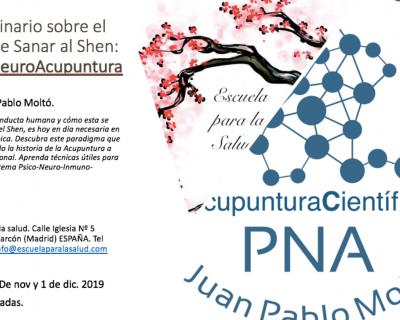 Privado: Seminario sobre el arte de sanar al Shen. PsicoNeuroAcupuntura. Con Juan Pablo Moltó