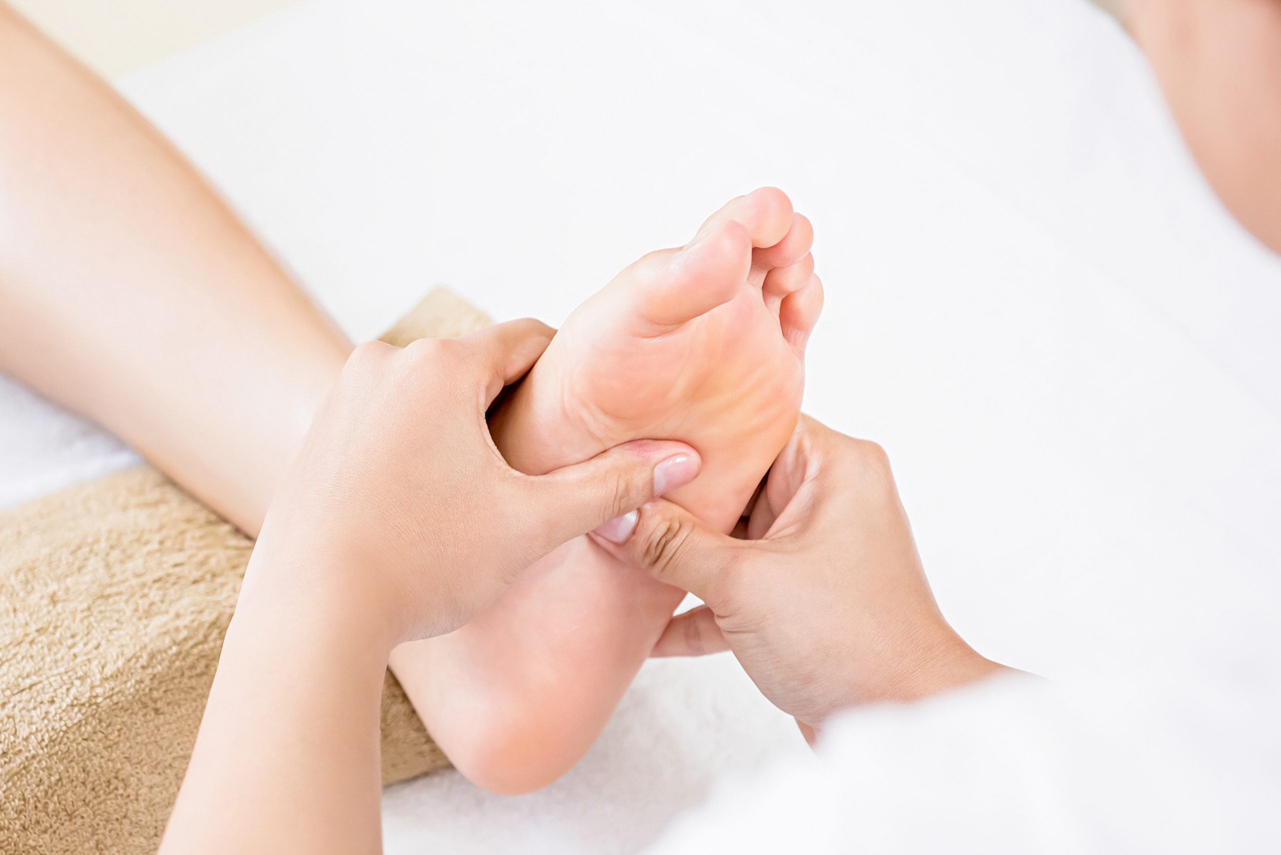 Relaxing traditional Thai foot reflexology massage